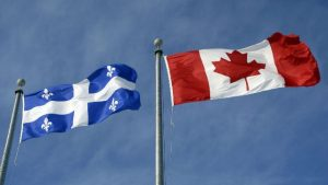 Quebec and Canadian Flag